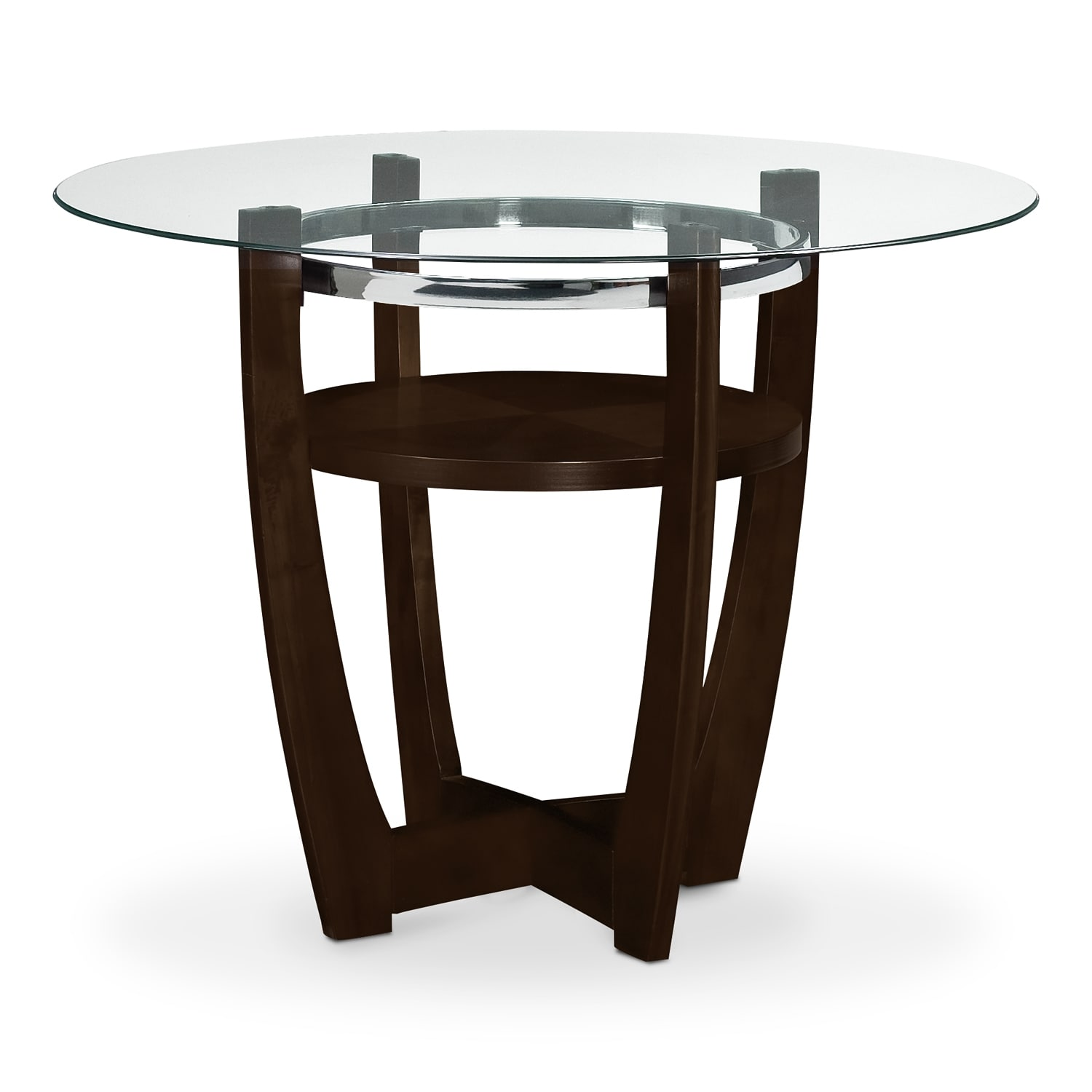 American signature furniture alcove ii dining room counter height table - Height dining room table ...