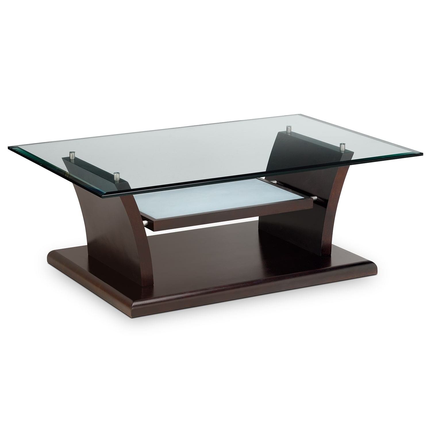 Bell aer cocktail table merlot american signature for Living coffee table