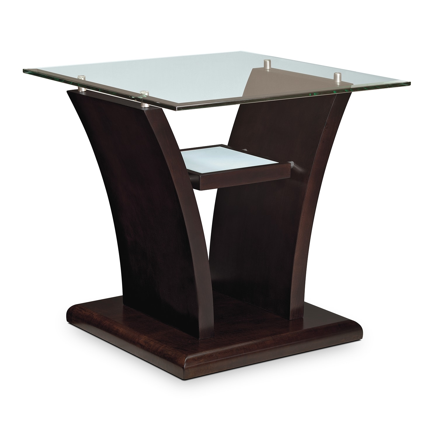 Bell Aer End Table Merlot American Signature Furniture