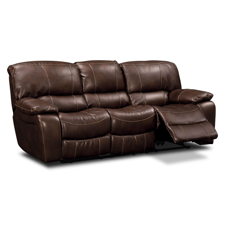 Grove Park Ii Leather Dual Reclining Sofa Value City Furniture
