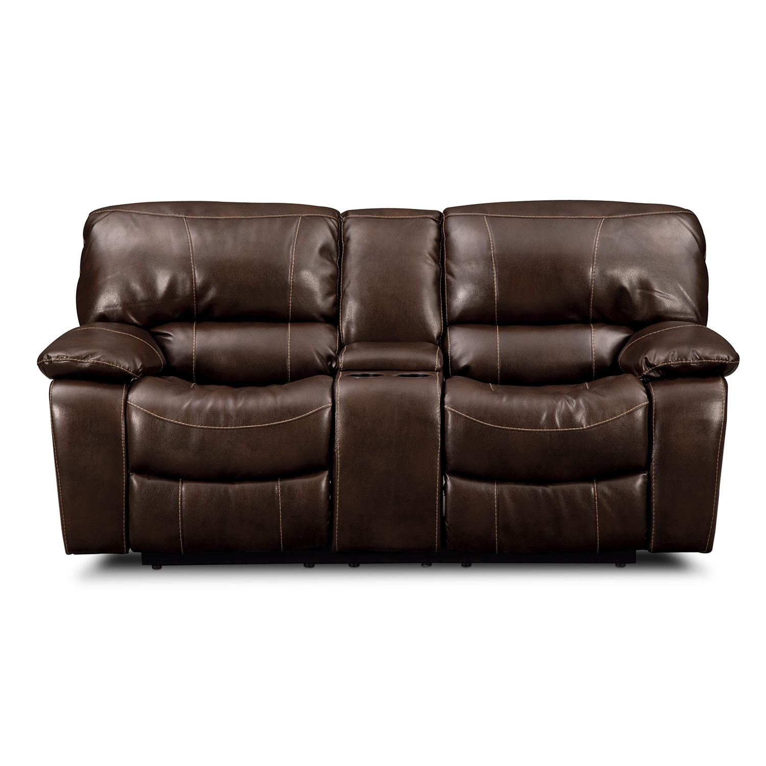 Grove Park Ii Leather Dual Reclining Loveseat Value City Furniture