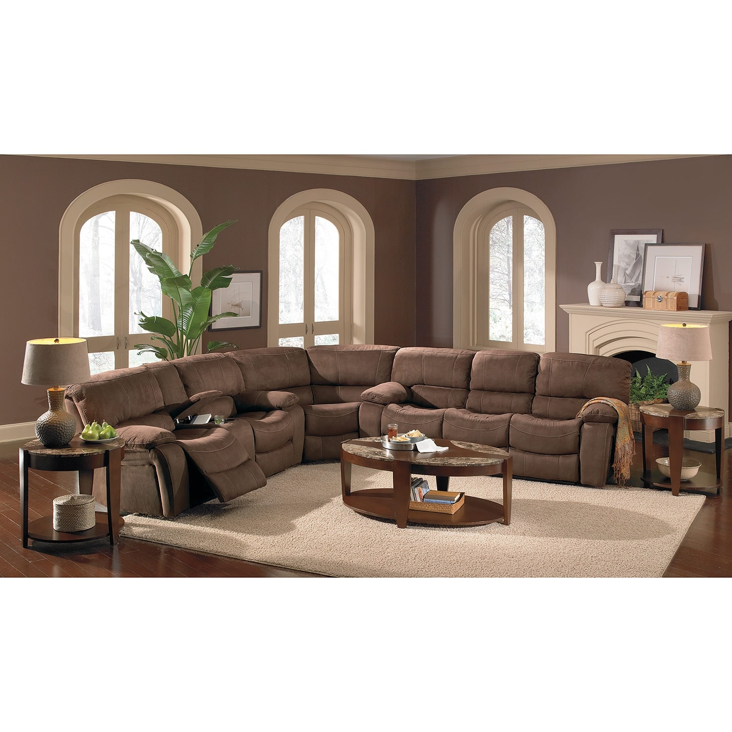 Grove Park Upholstery 3 Pc Reclining Sectional Value City Furniture