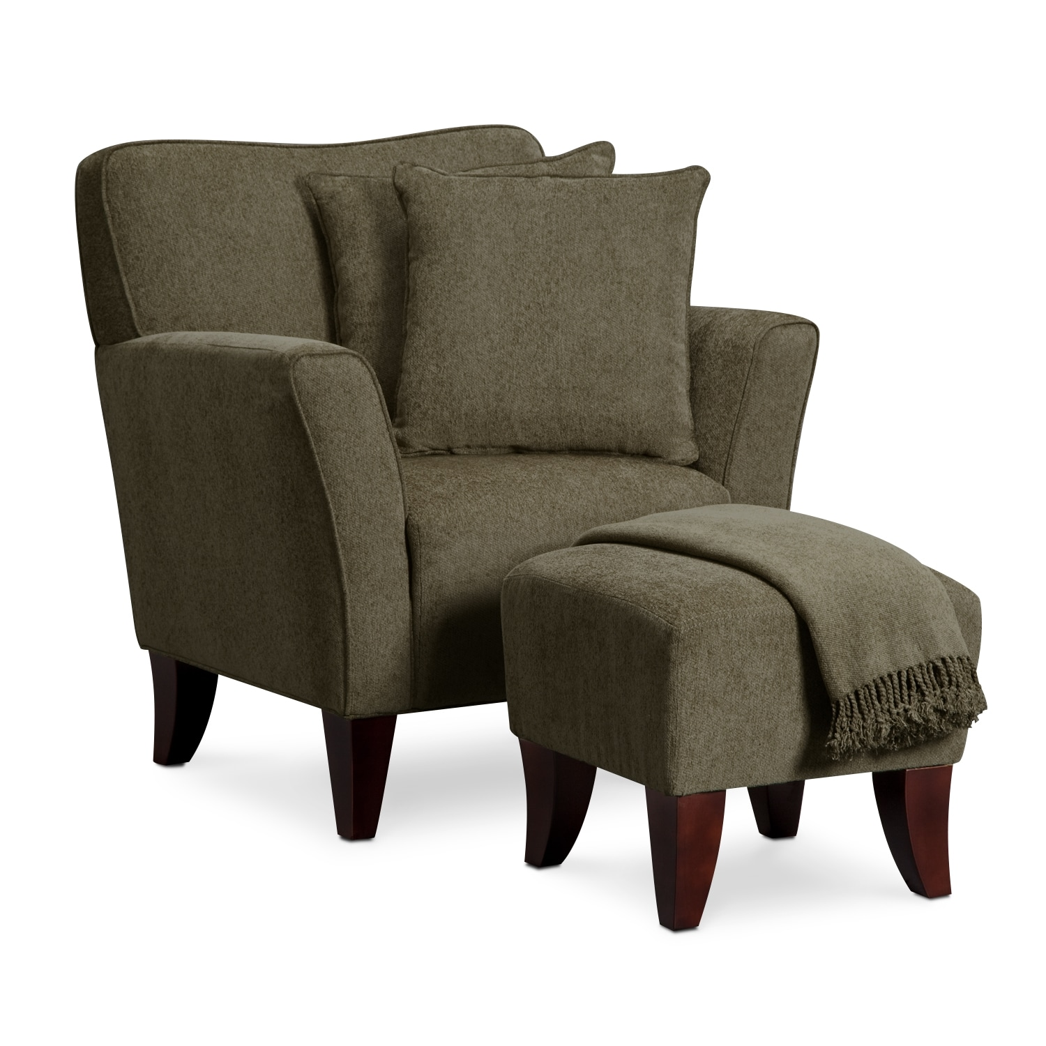 Pillows For Living Room Chairs: Dorset Chair Set W/ Pillows And Throw