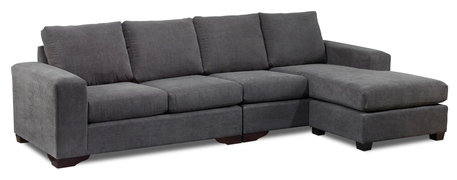 Danielle 2-Piece Right- Facing Sectional - Grey