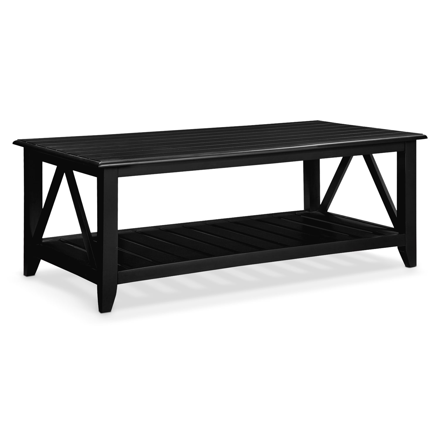 Http Valuecityfurniture Com Accent And Occasional Furniture Occasional Tables Cocktail Tables Plantation Cove Coastal Black Cocktail Table 1584990 Aspx