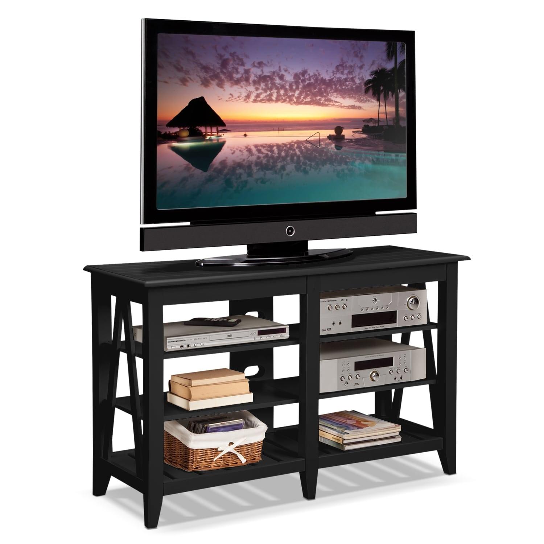 plantation cove coastal tv stand black american