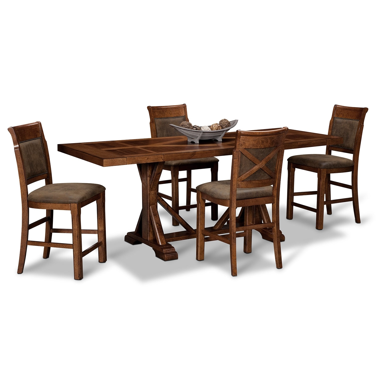 Dining Room Sets Austin Tx: Austin Walnut 5 Pc. Counter-Height Dinette