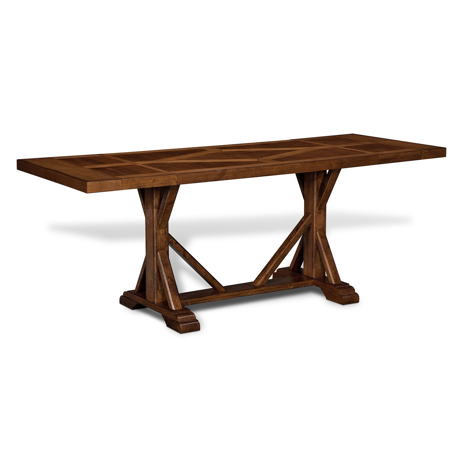 Austin walnut dining room counter height table value for Counter height dining table