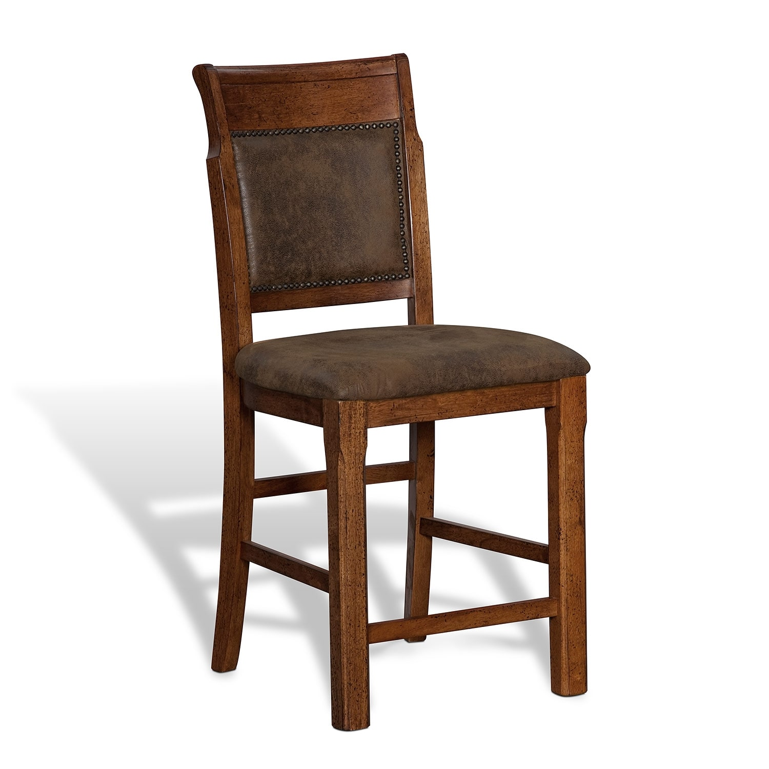 signature furniture austin walnut dining room counter height stool
