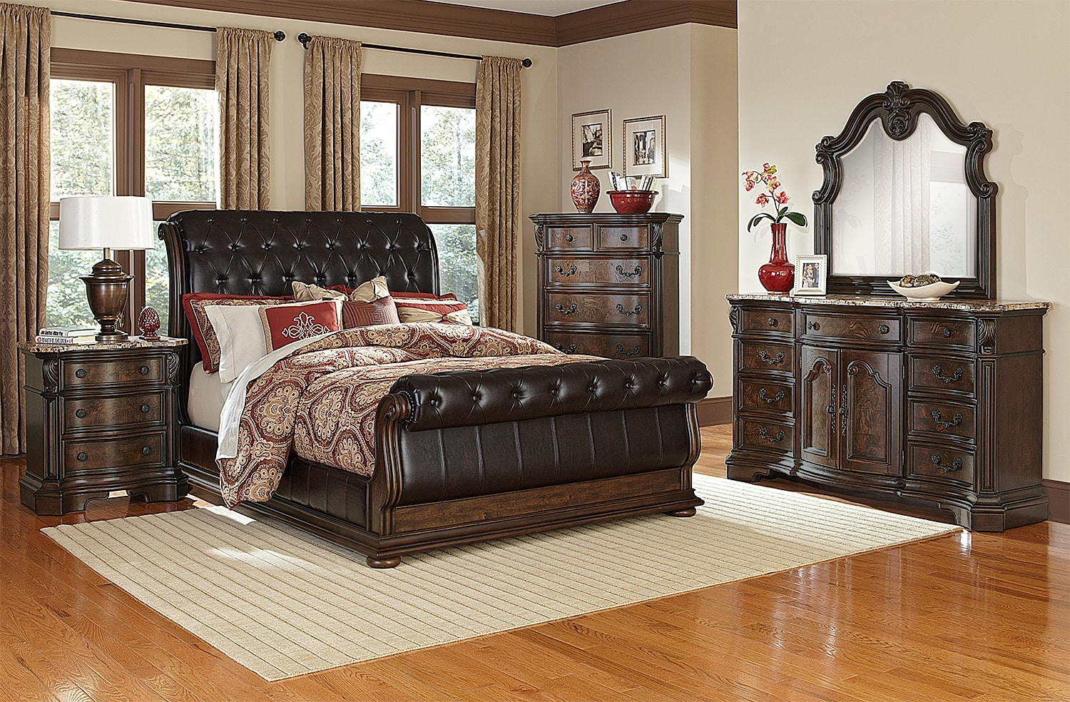 the monticello pecan ii collection american signature