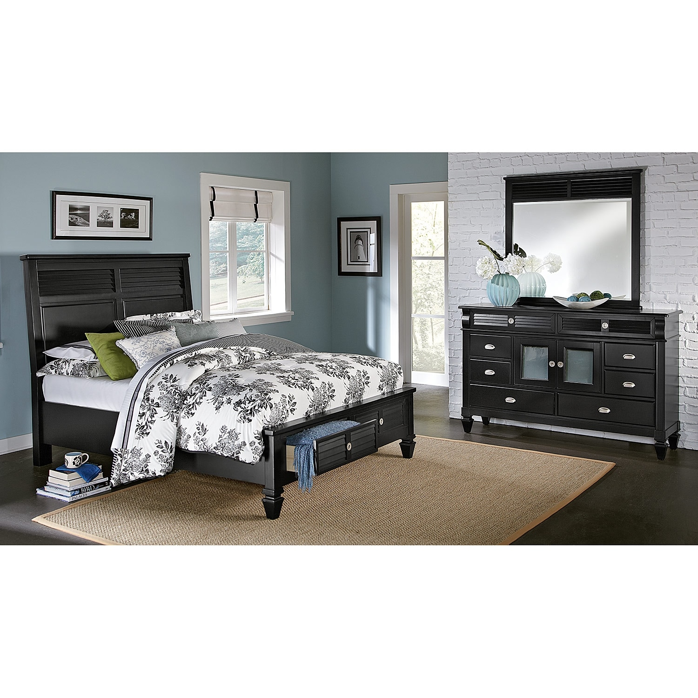 Bay Black II Bedroom 5 Pc King Storage Bedroom Value City Furniture