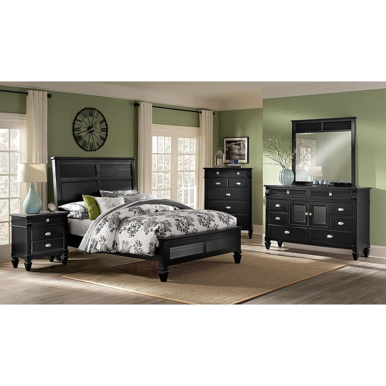Bedroom Furniture Charleston Bay Black Nightstand