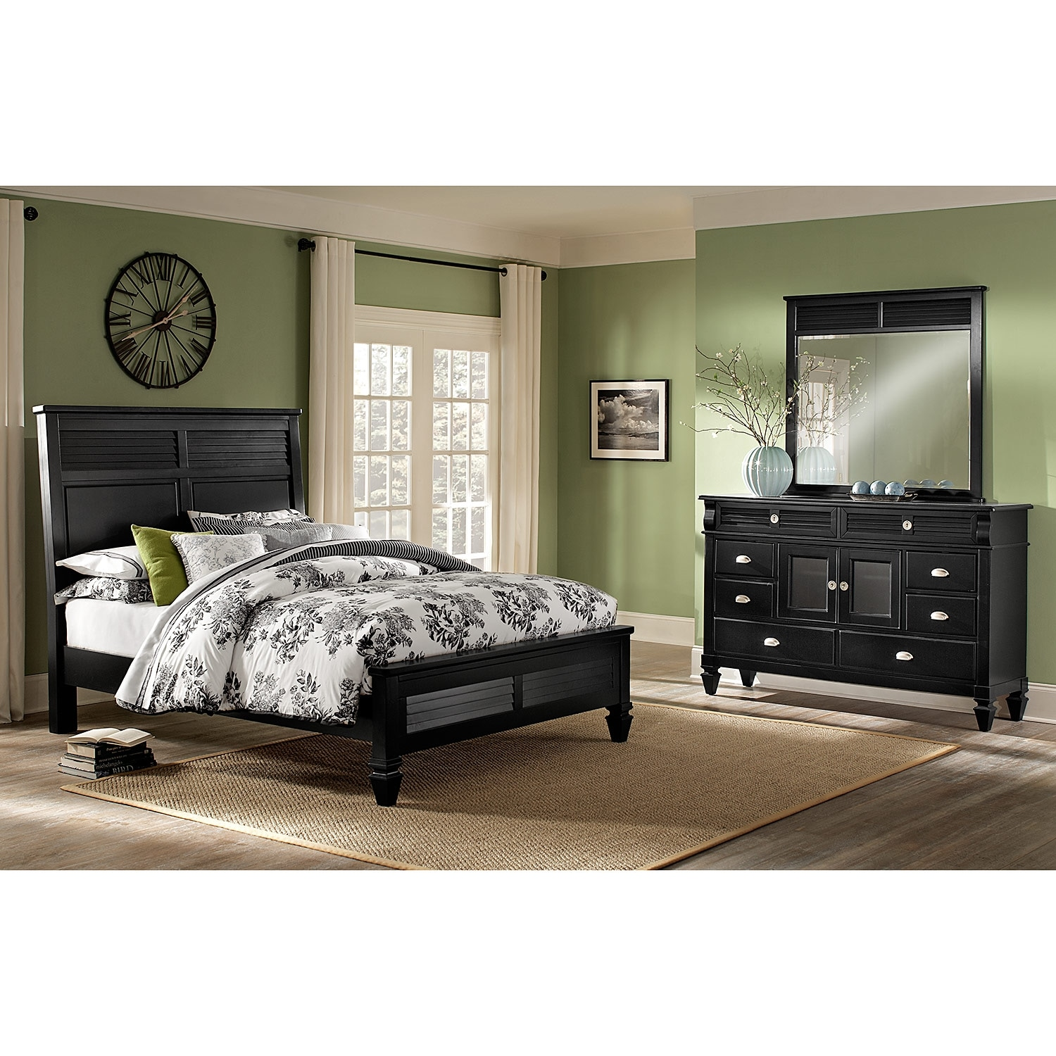 charleston bay black bedroom 5 pc queen bedroom value
