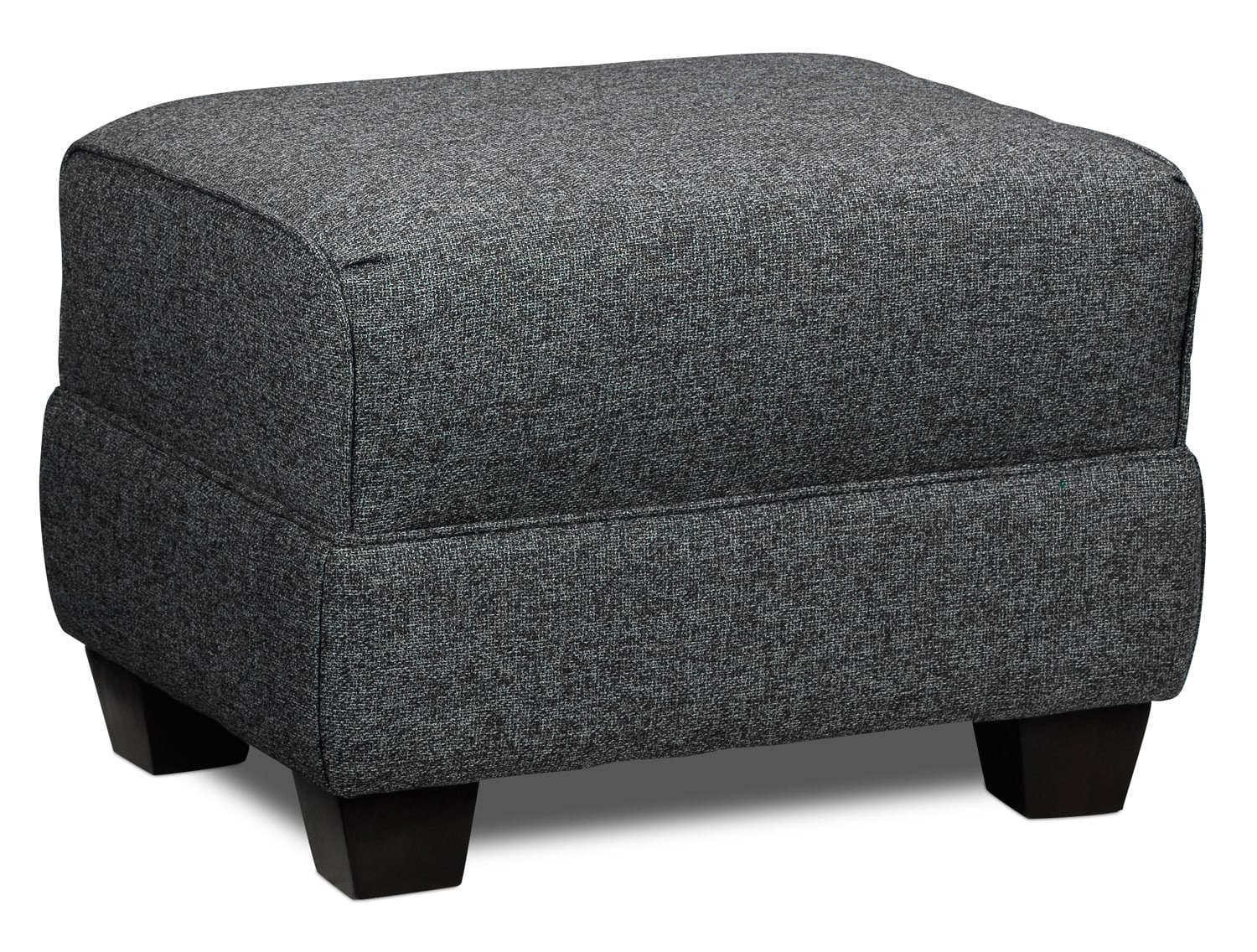 Living Room Furniture - Ashby Ottoman - Grey