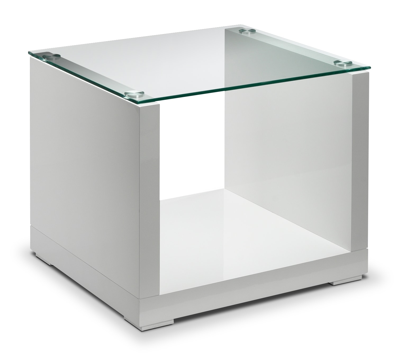 Sambora End Table - White