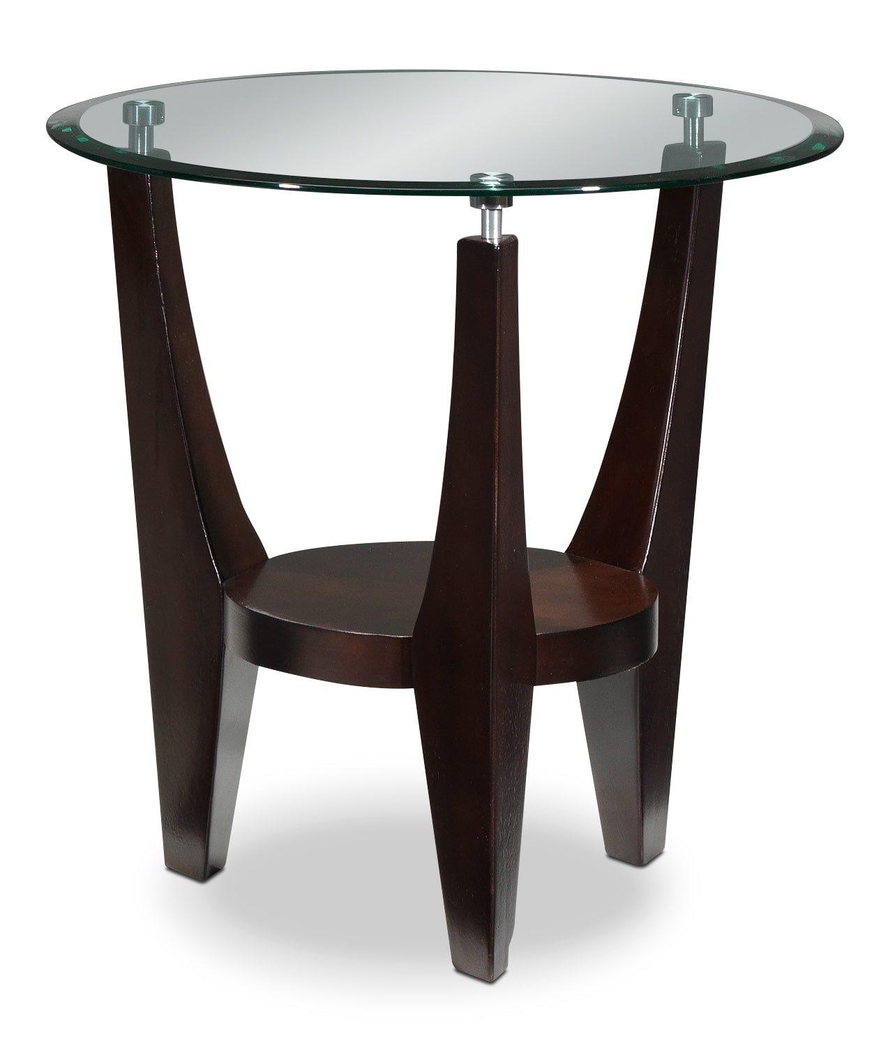 Cher End Table - Light Espresso