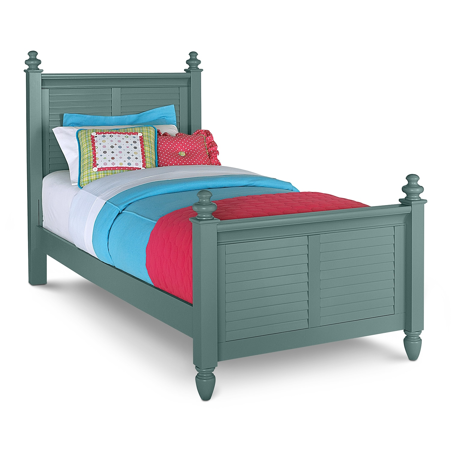 Seaside Twin Bed - Blue | Value City Furniture