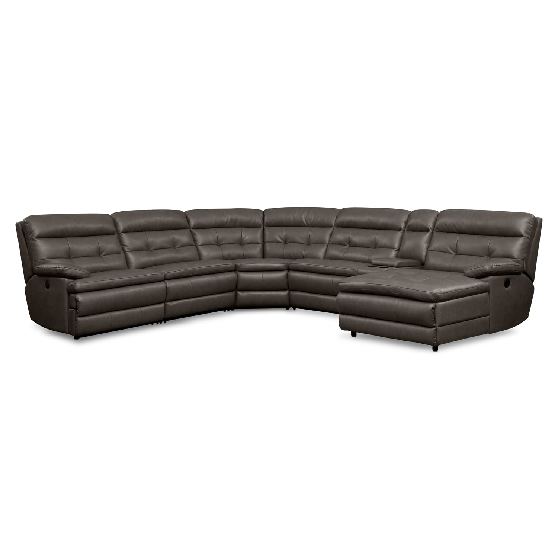 Midori 6 Pc Leather Power Reclining Sectional Sofa: Coming Soon [valuecity.com]