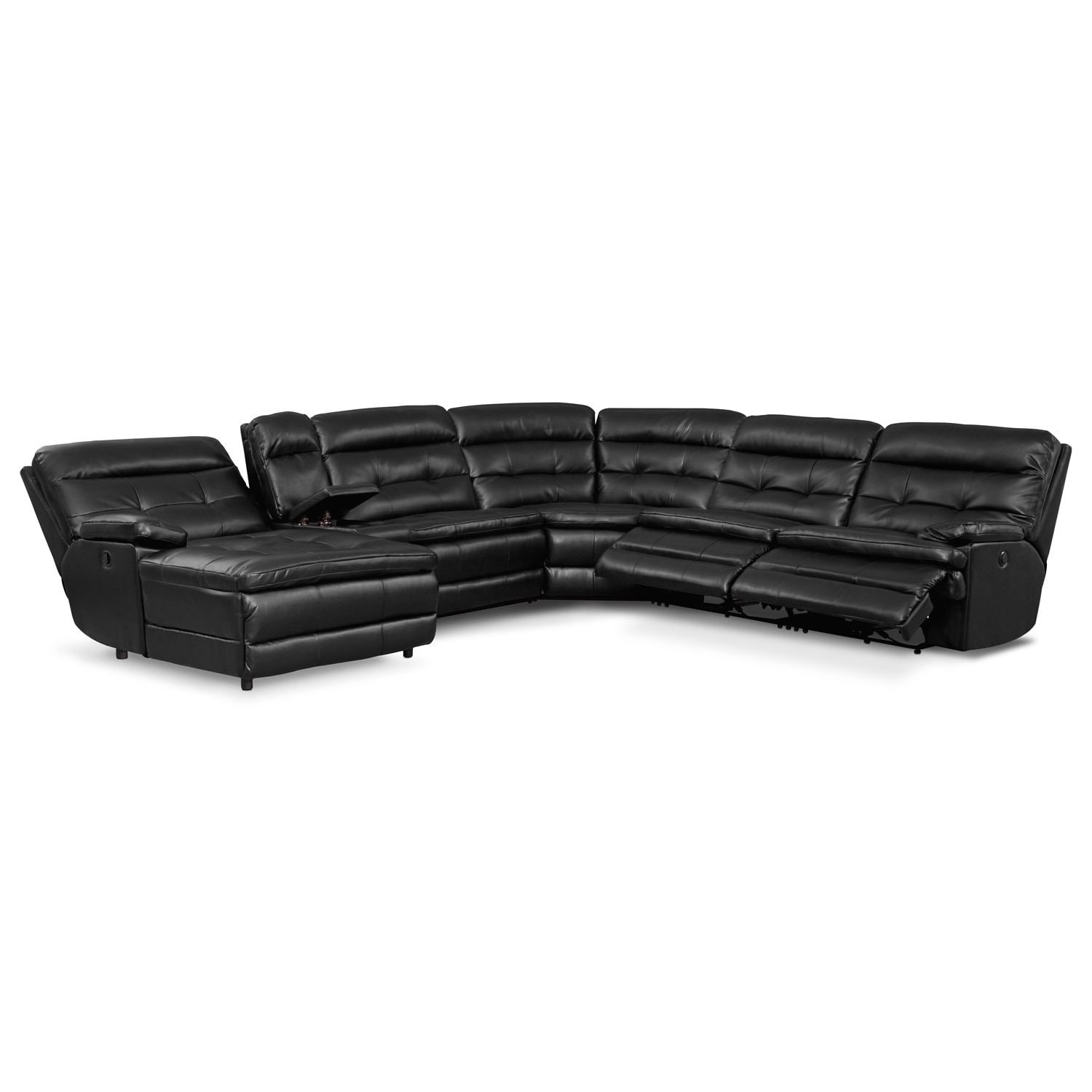Midori 6 Pc Leather Power Reclining Sectional Sofa: Document Moved
