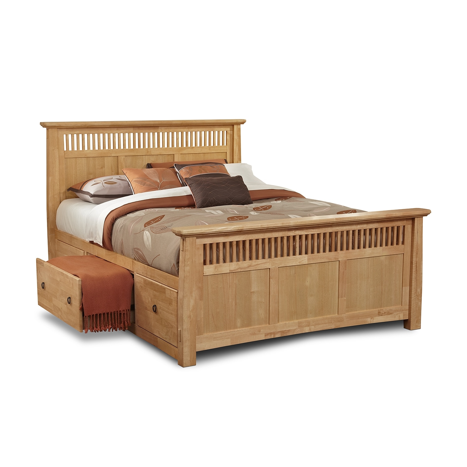 [Arts & Crafts Light Storage King Storage Bed]