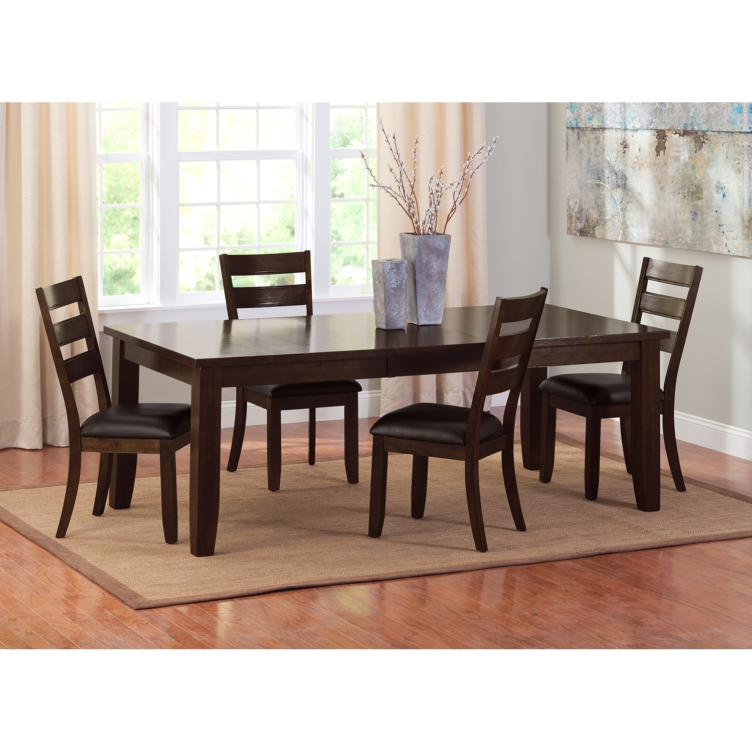 abaco dining room table value city furniture