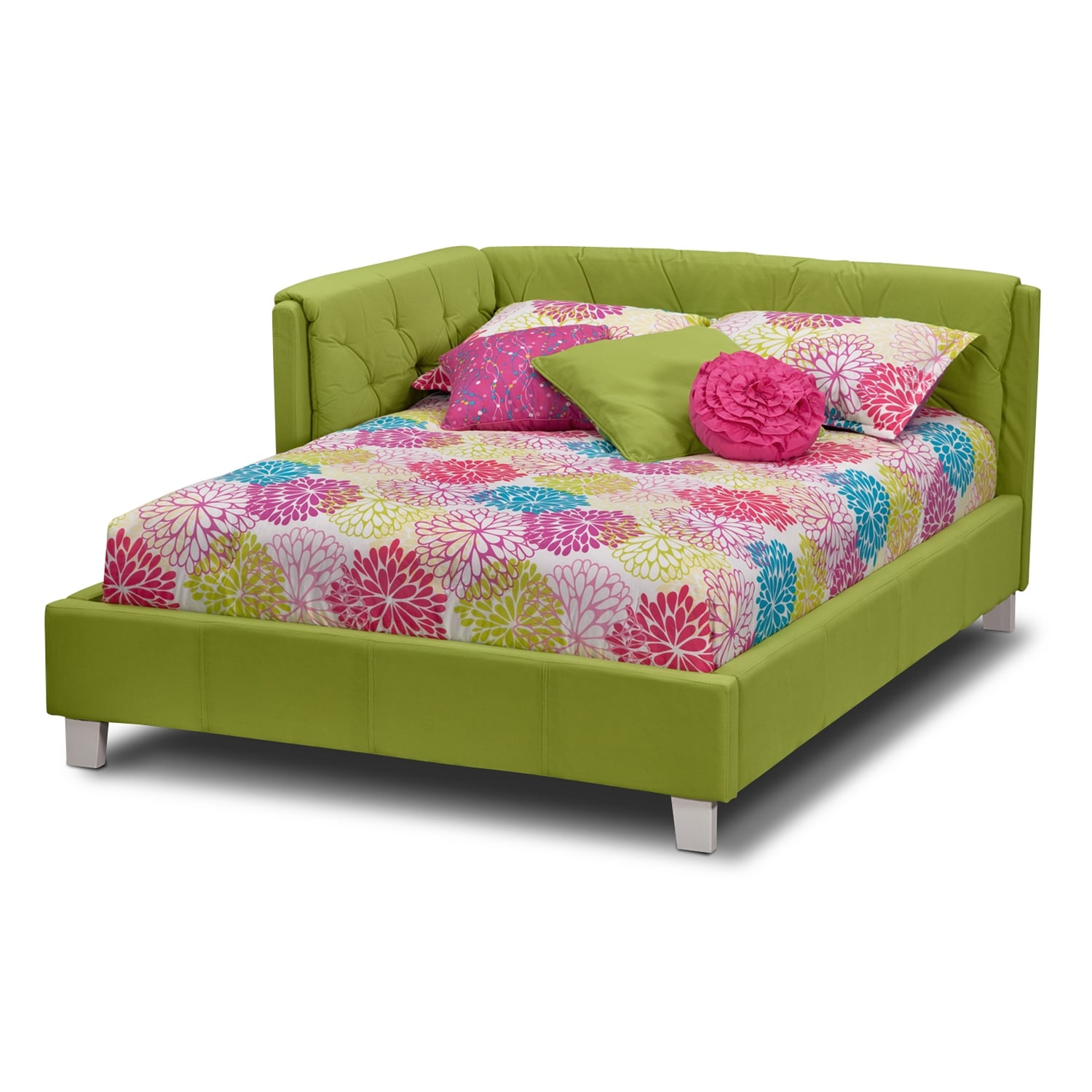 Jordan Full Corner Bed Green Value City Furniture