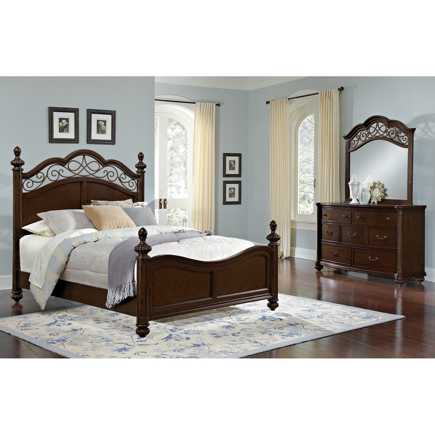 derbyshire bedroom 5 pc king bedroom value city furniture