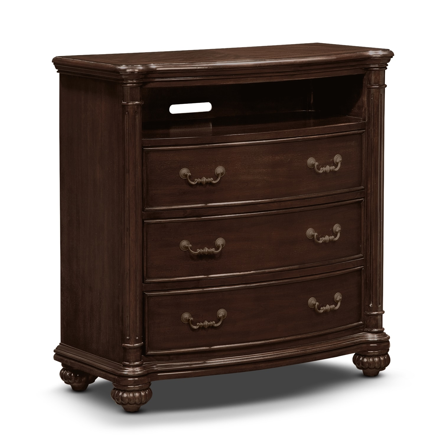 derbyshire bedroom media chest value city furniture. Black Bedroom Furniture Sets. Home Design Ideas