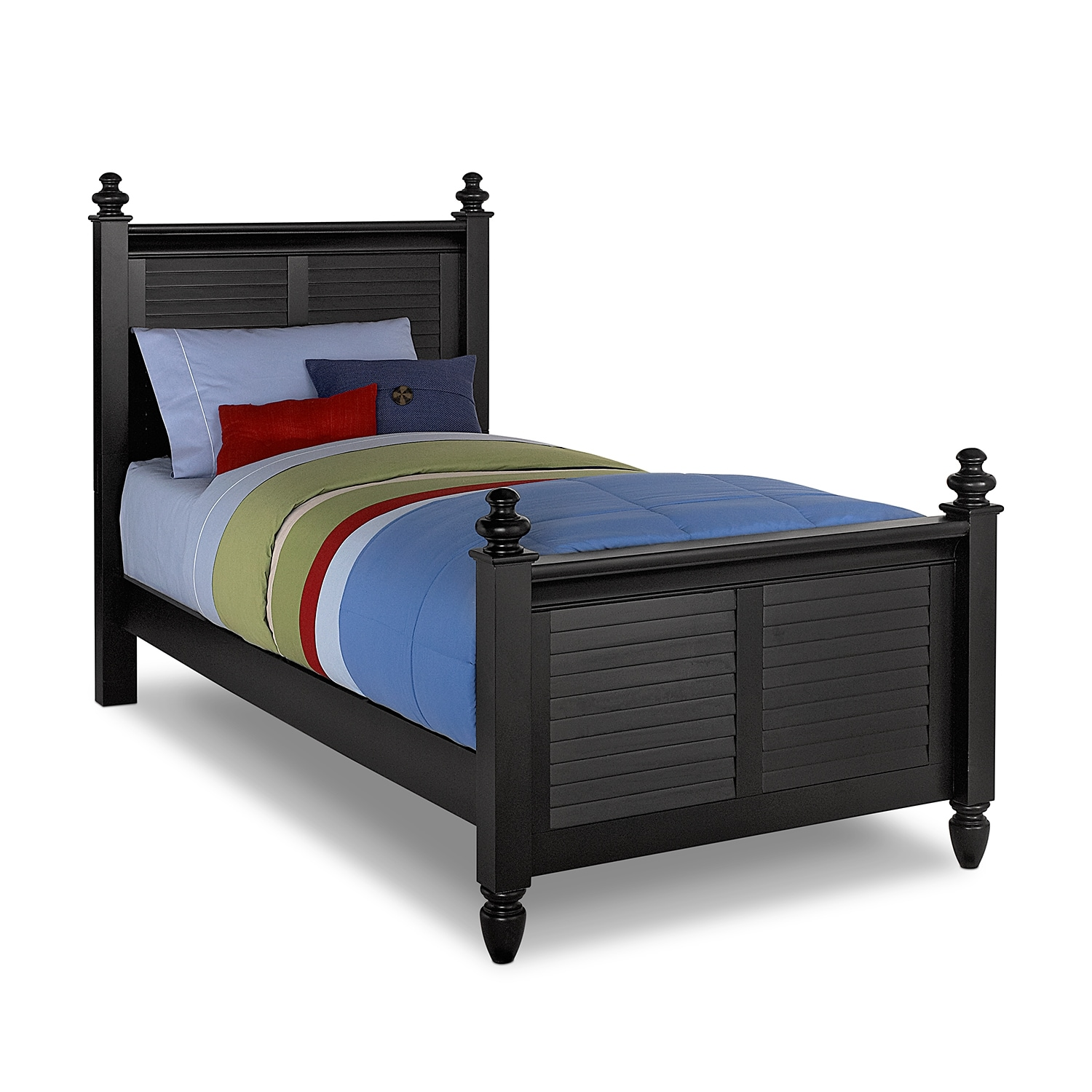 Seaside twin bed black american signature furniture Twin bed frames
