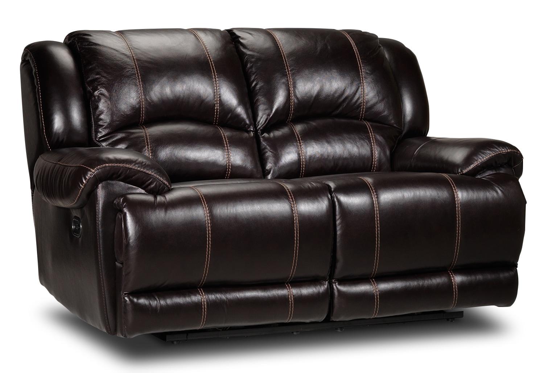 Living Room Furniture - Sinatra Power Reclining Loveseat - Walnut