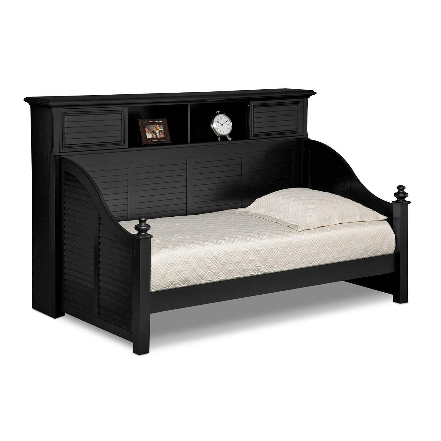 Bookcase daybed seaside black american signature furniture Seaside collection furniture