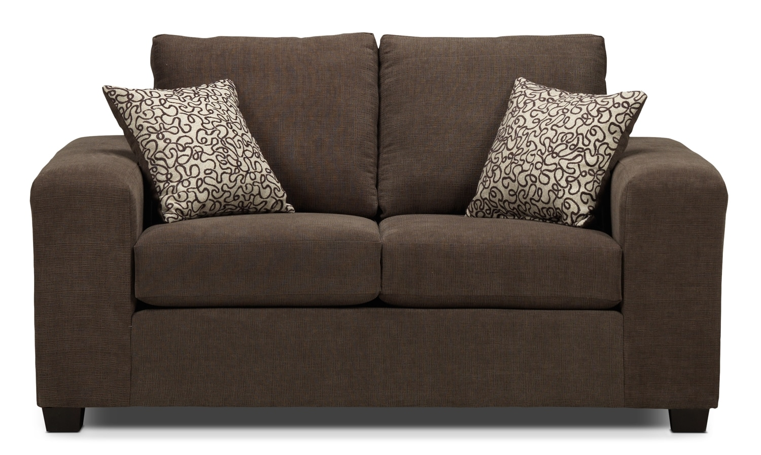 Living Room Furniture - Fava Loveseat - Light Brown