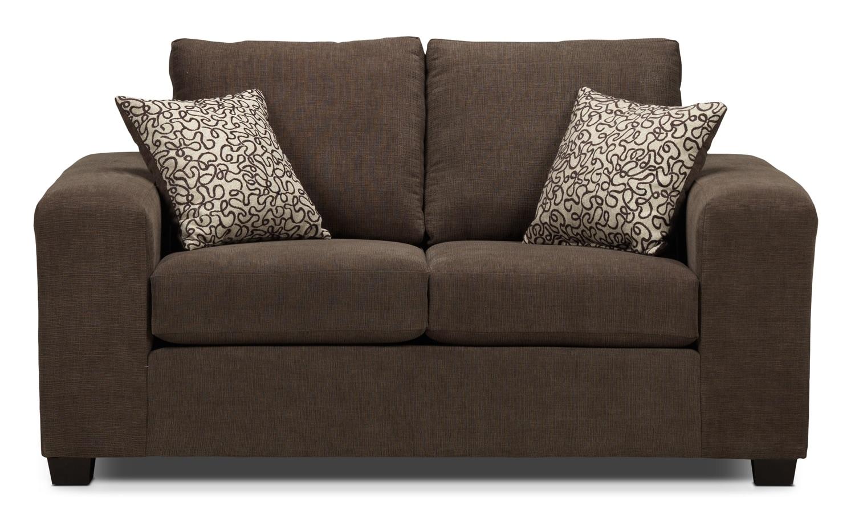 Living Room Furniture - Fava Loveseat - Light Brown