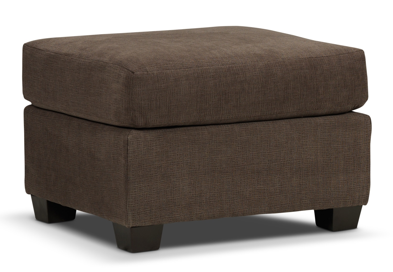 Living Room Furniture - Fava Ottoman - Light Brown