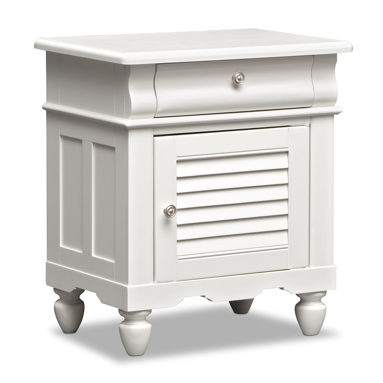 Seaside white nightstand value city furniture Seaside collection furniture