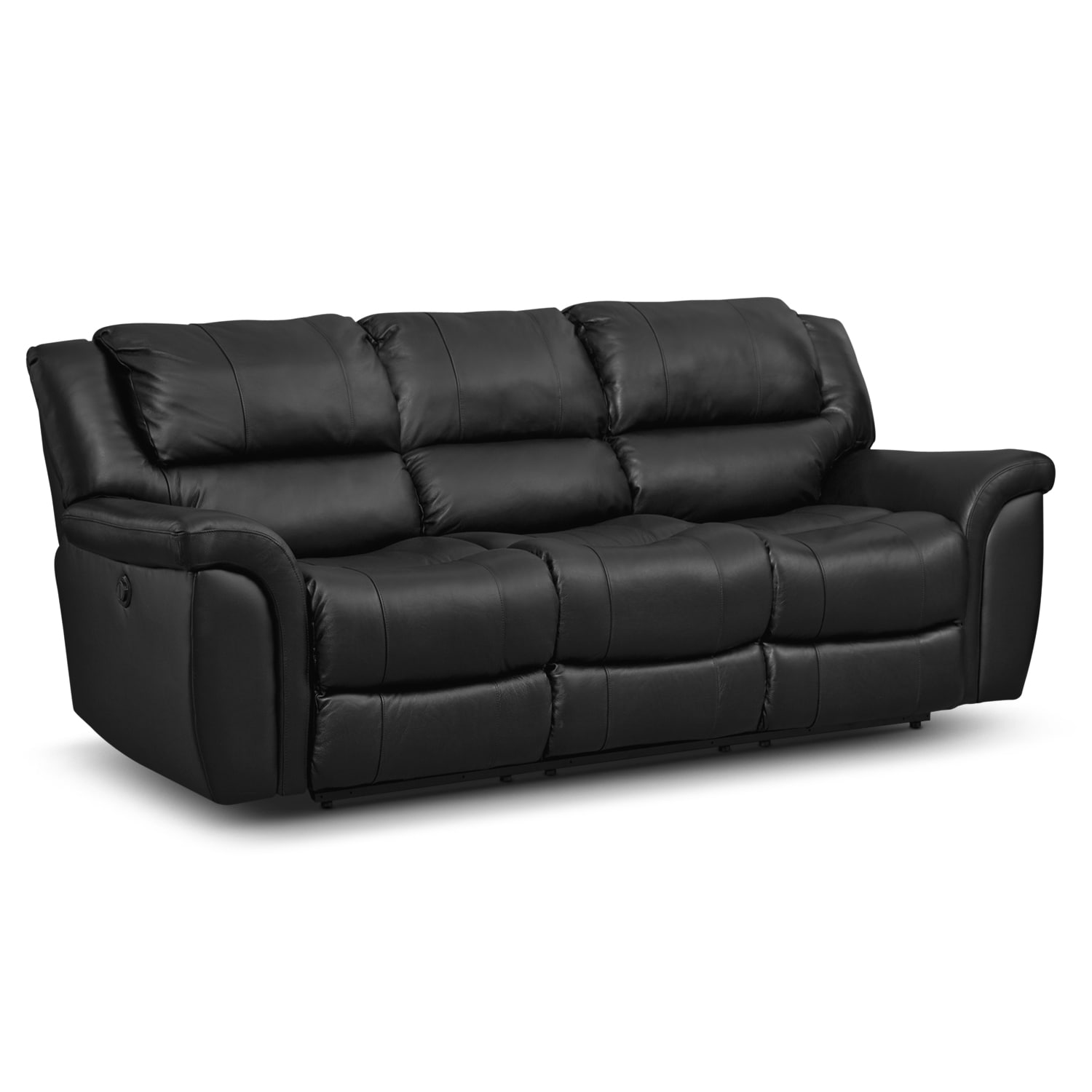 Value city furniture for Leather reclining sofa