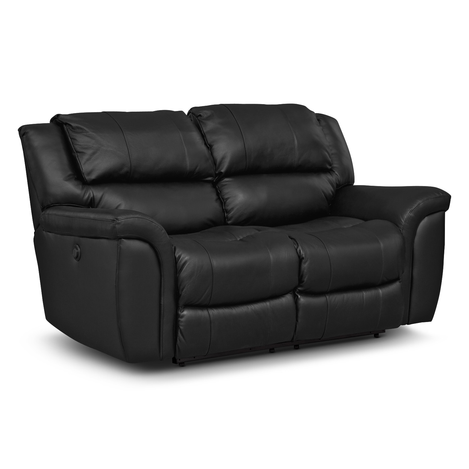 Living Room Furniture - Aquarius III Dual Power Reclining Loveseat