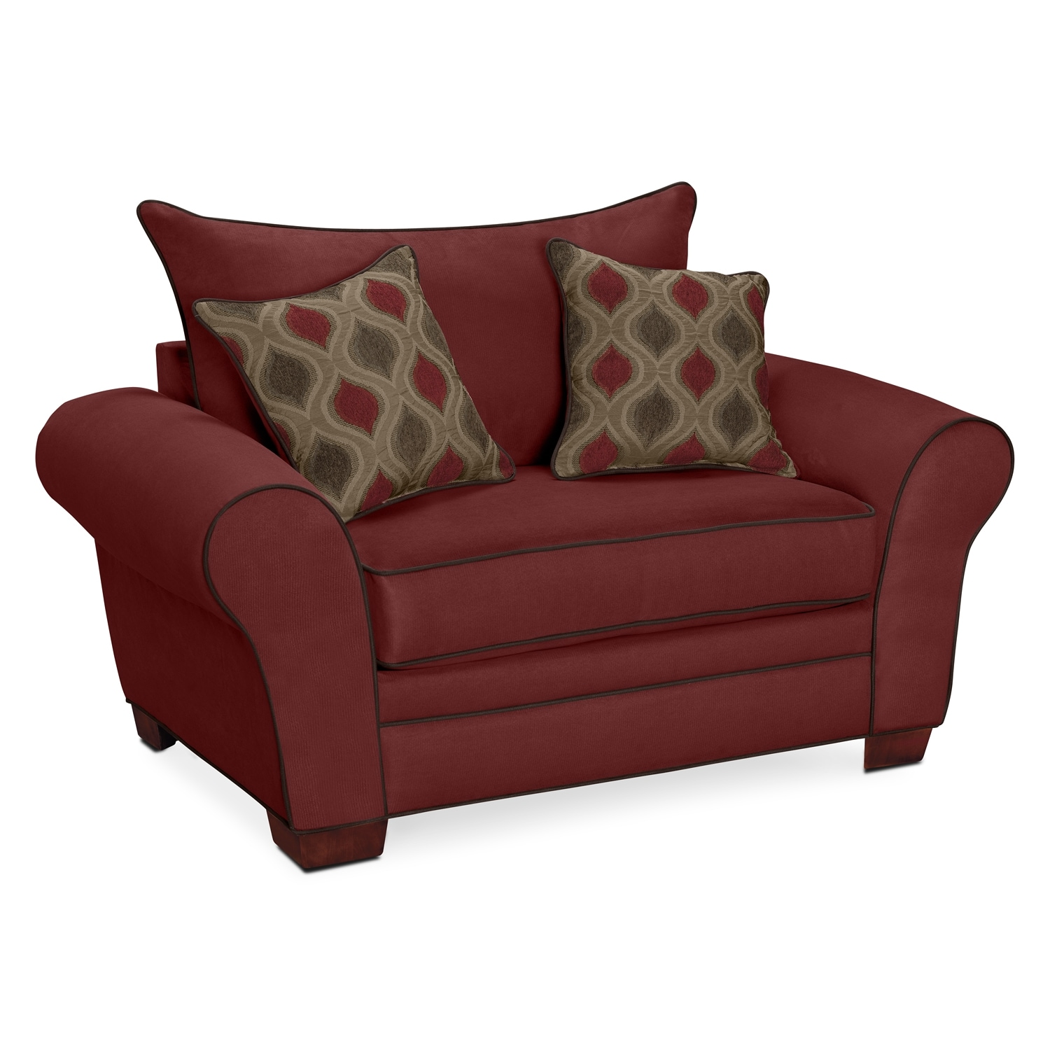 Living Room Furniture - Strauss Wine Chair and a Half