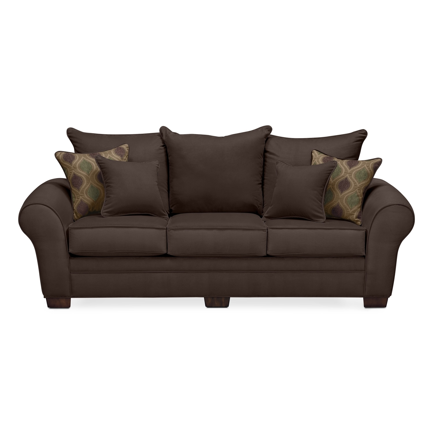 rendezvous sofa chocolate value city furniture. Black Bedroom Furniture Sets. Home Design Ideas