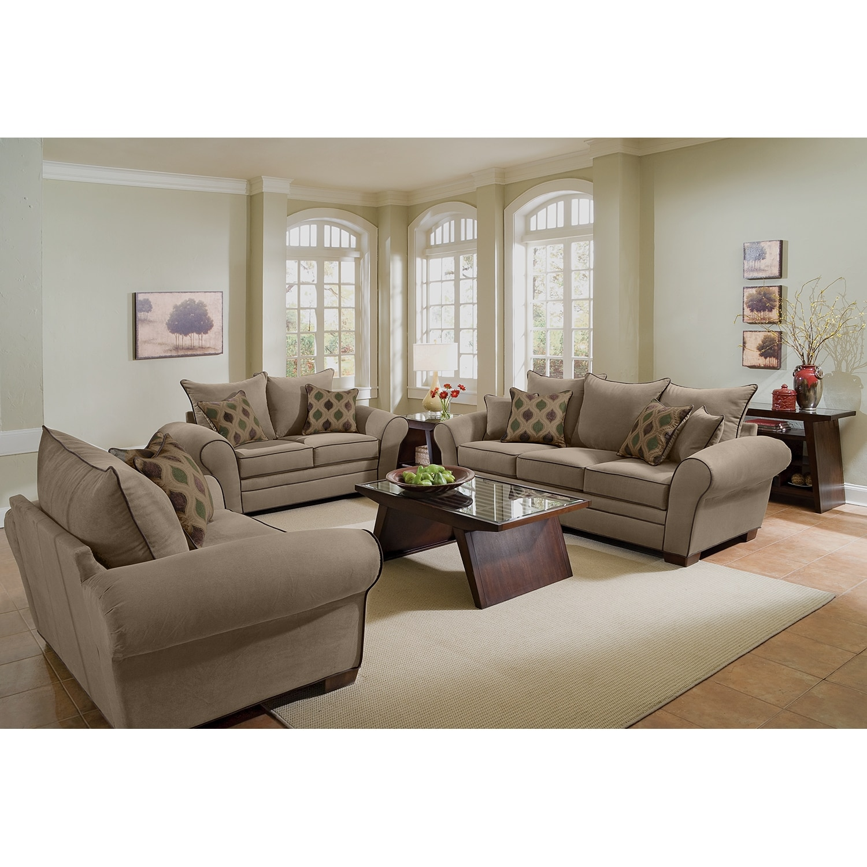 Value City Furniture: Rendezvous Sofa - Tan