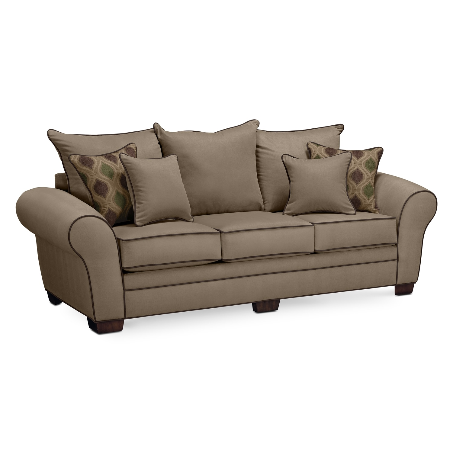 Rendezvous Sofa Tan Value City Furniture