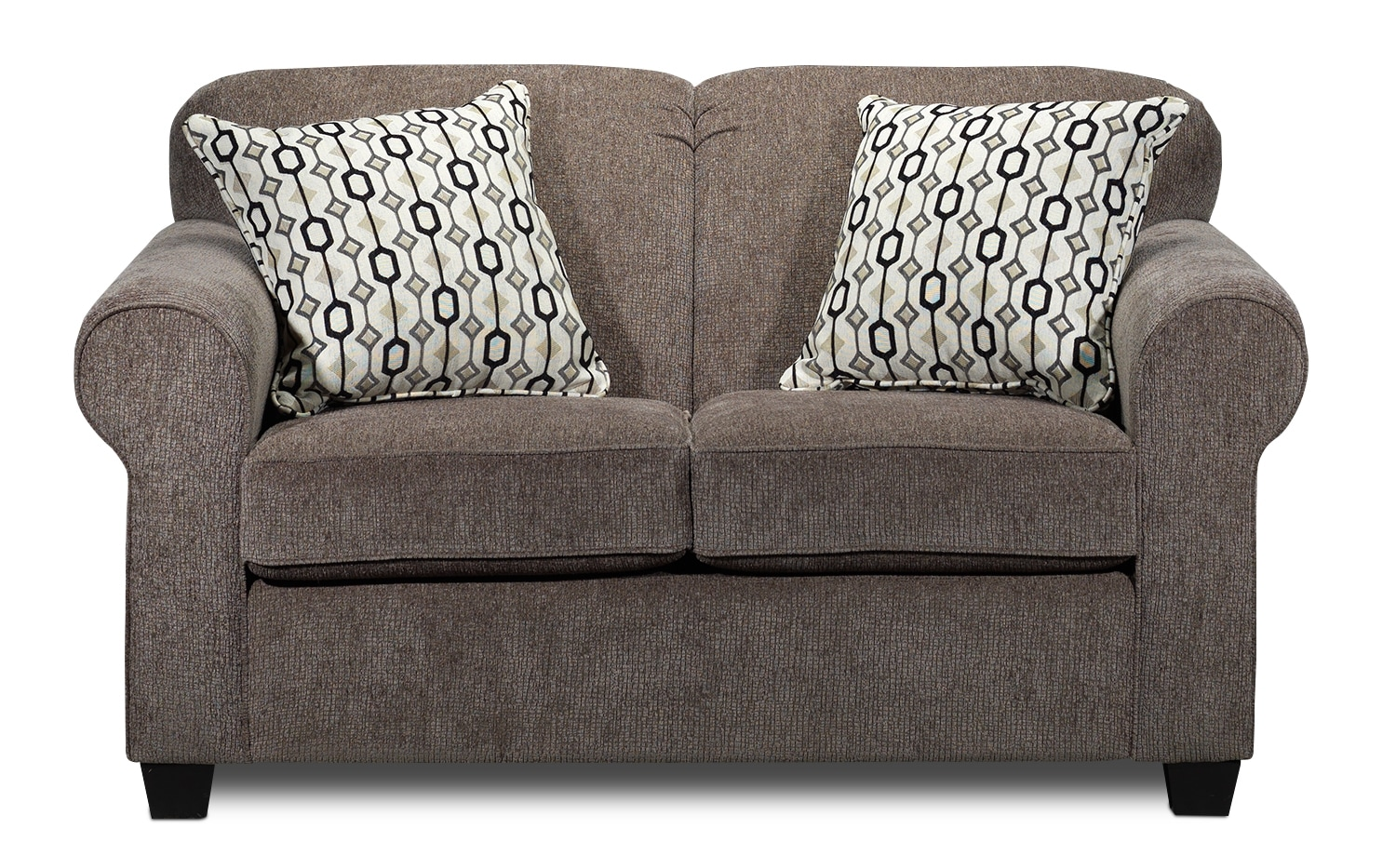 Living Room Furniture - Aristotle Loveseat - Taupe