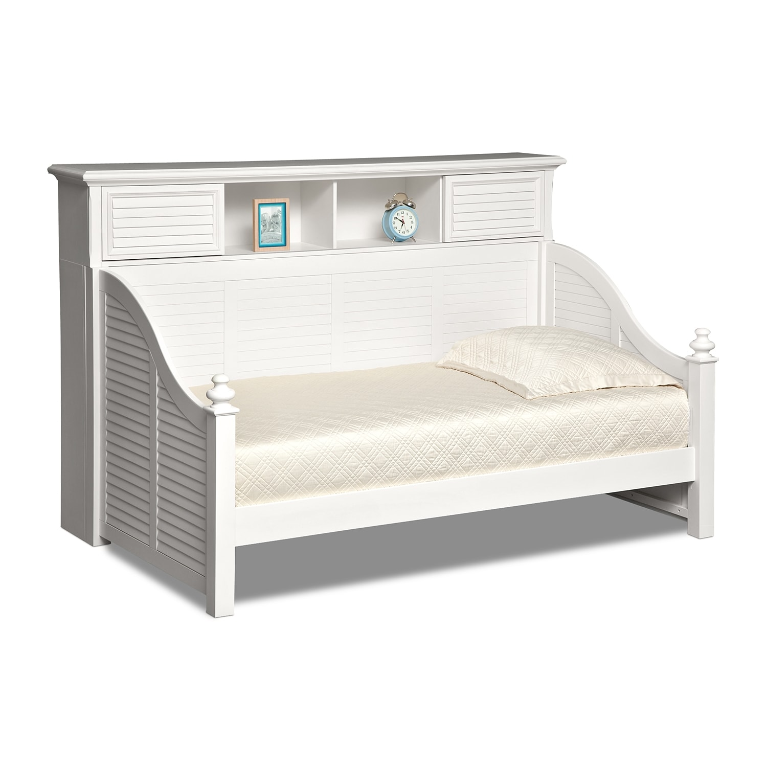 Kids Furniture - Mayflower II White Bookcase Daybed