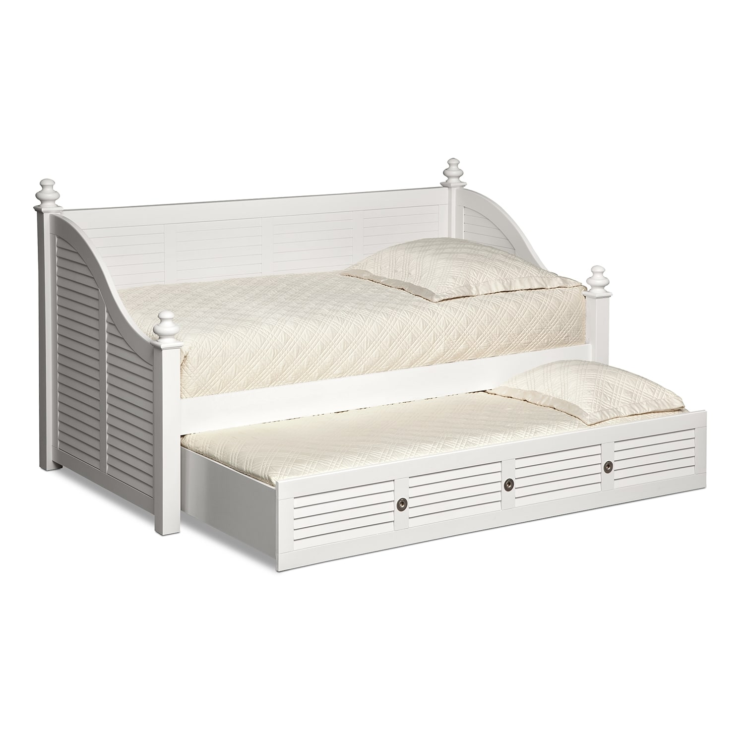 Full Beds. Have a small bedroom but want more than a twin bed? Looking for bedroom furniture for a guest room but can't fit a queen bed? If you answered yes to either of those questions, a full bed is the right choice for you.