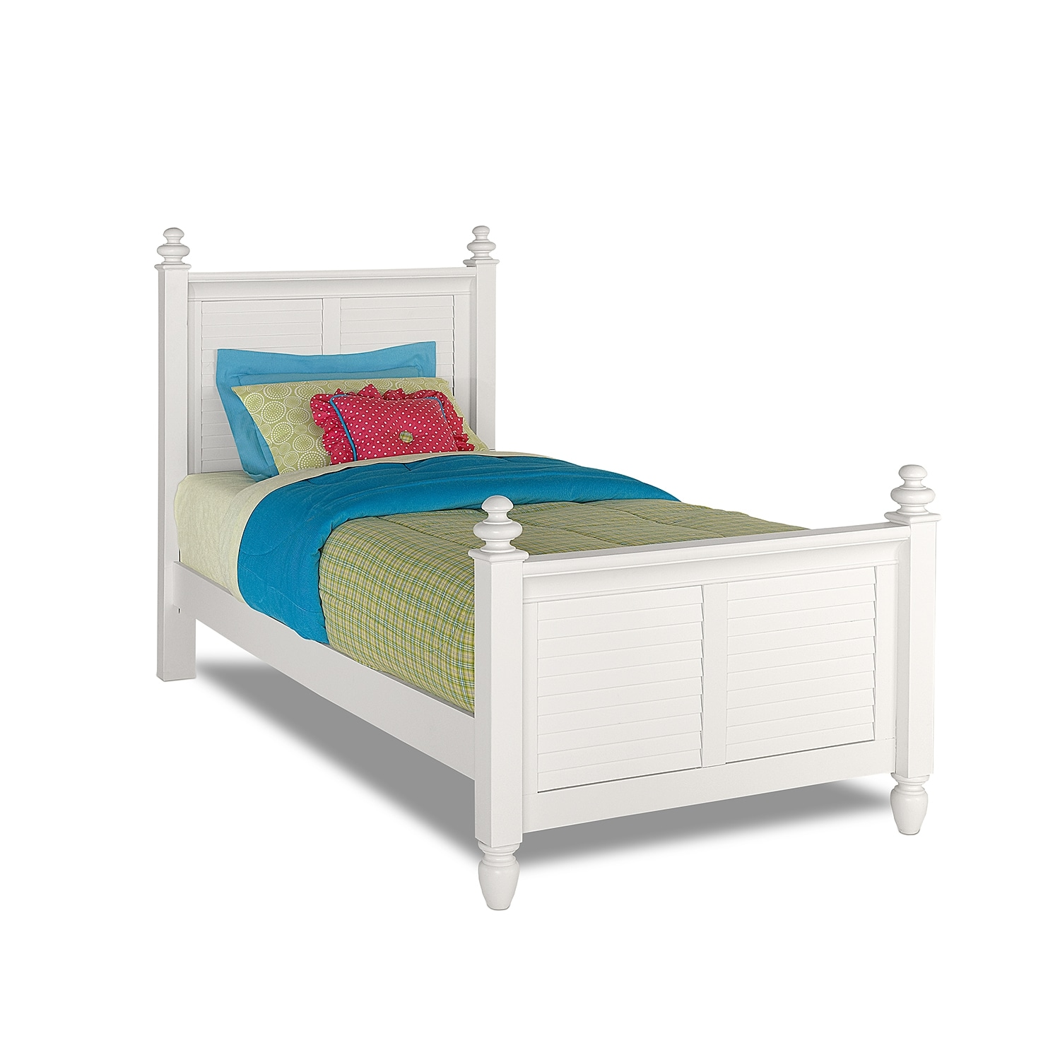 Seaside Twin Bed White American Signature Furniture