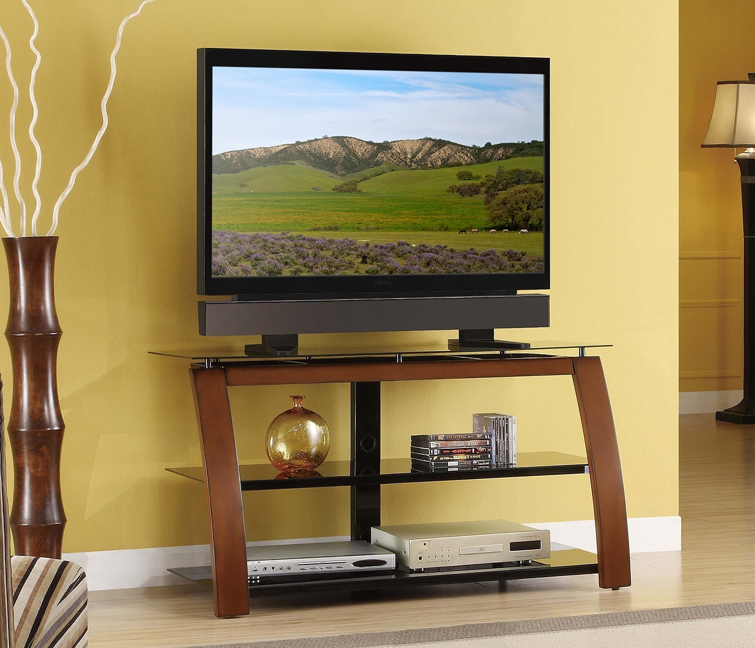 "Televisions - Bryson 40"" TV Stand - Black and Brown"