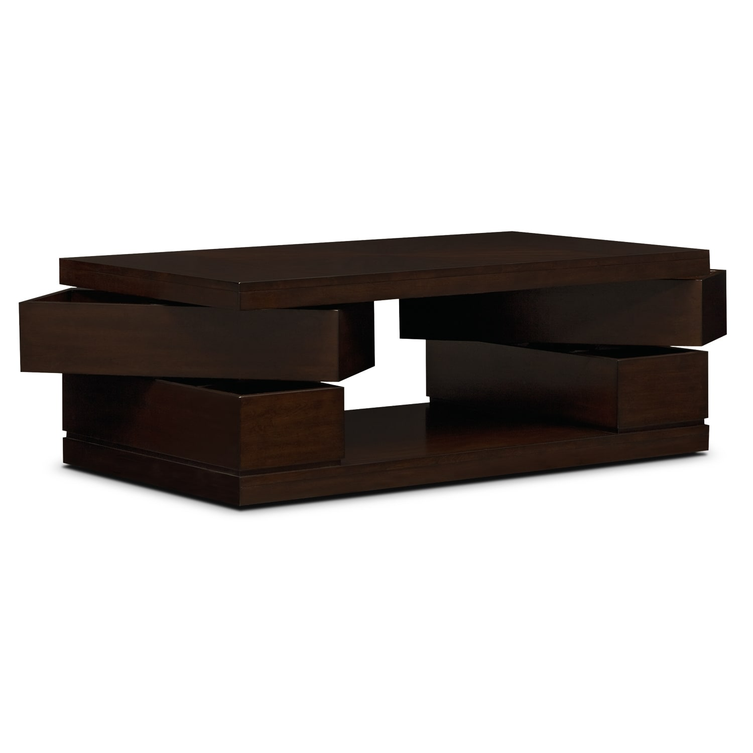Prestige Cocktail Table Brown American Signature Furniture