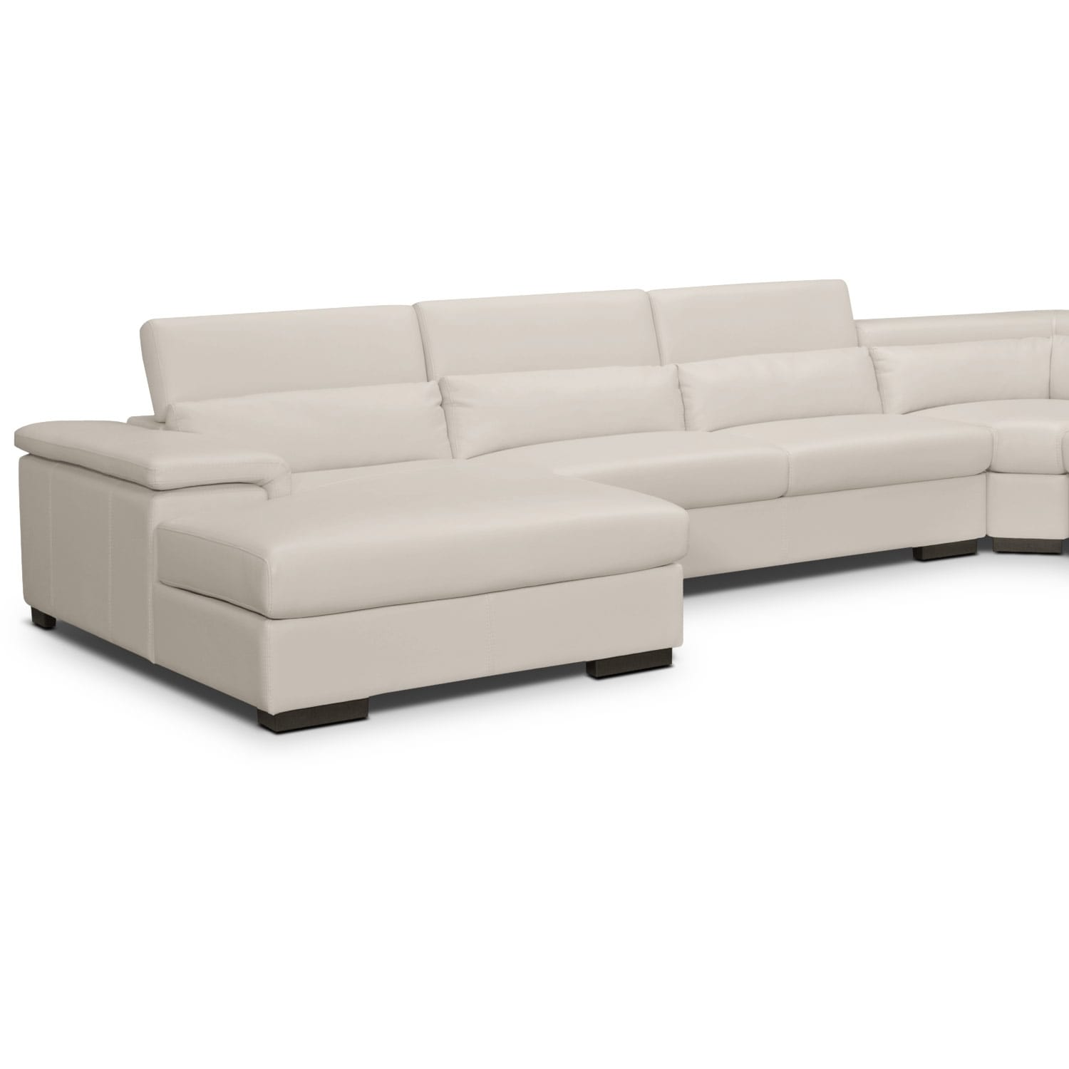Ventana Leather 4 Pc. Sectional (Reverse) - Value City ...
