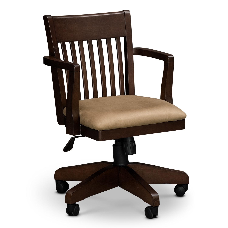 Arts & Crafts Dark Arm Chair | Value City Furniture