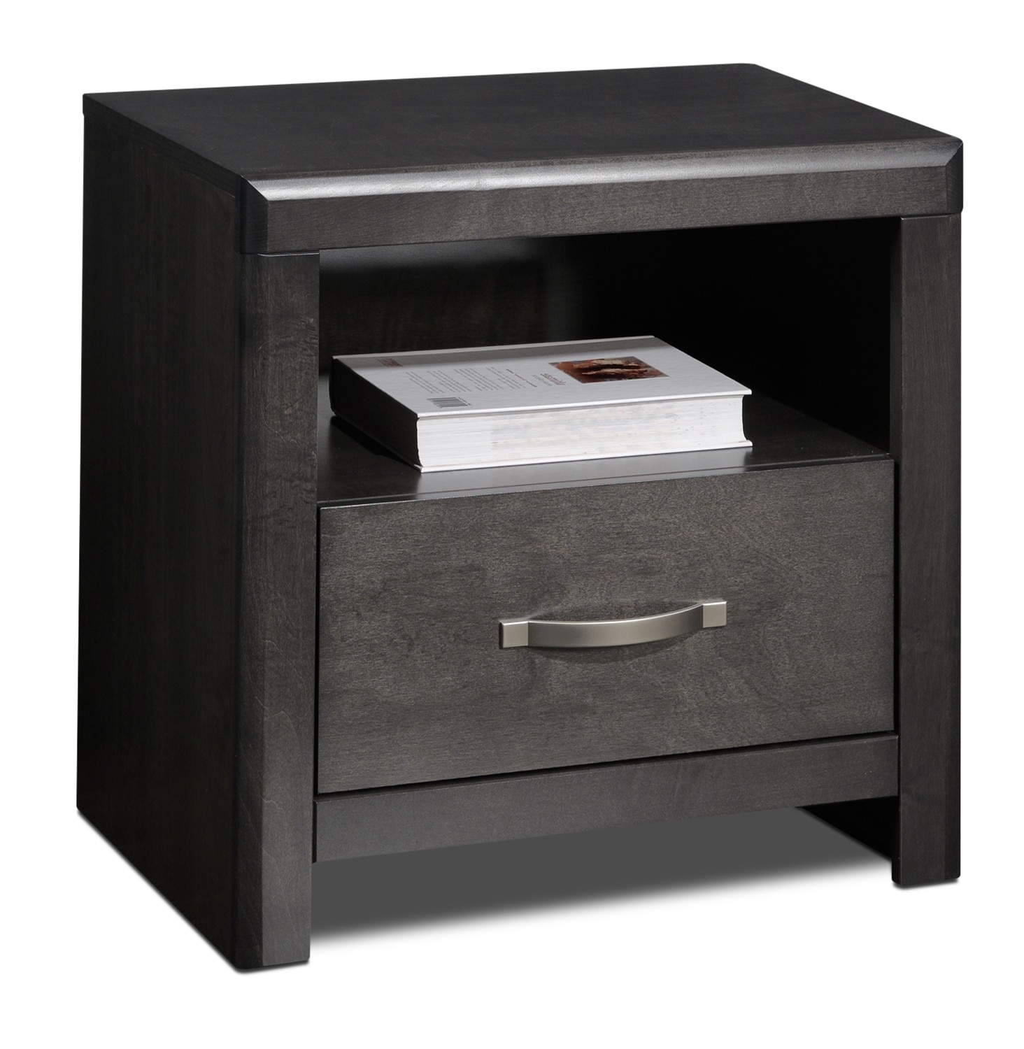 Bedroom Furniture - Dessy Night Table - Charcoal